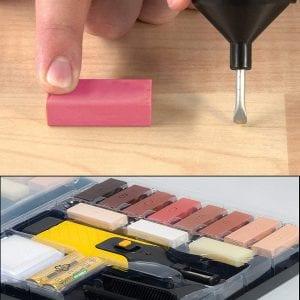 Kit de reparación de rayaduras en suelos laminados
