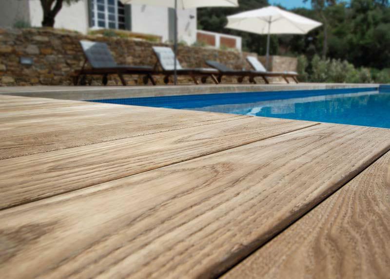 Tarima de Exteriro de autentica madera natural.